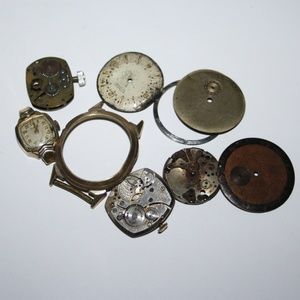 Lot of Misc vintage watch parts